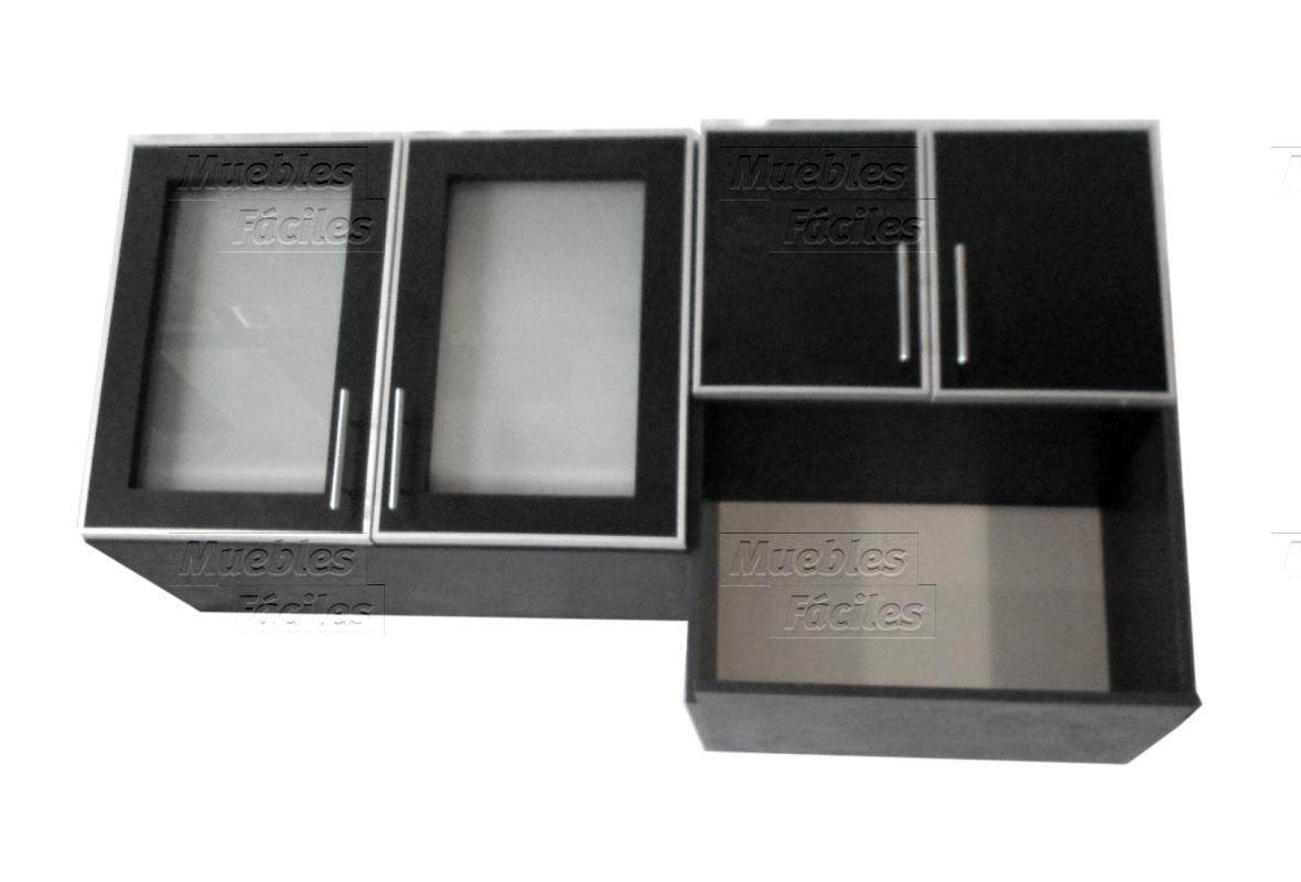 Muebles F Ciles Productos De Cocina Alacena Con Vidrios 0 80m  # Muebles Faciles